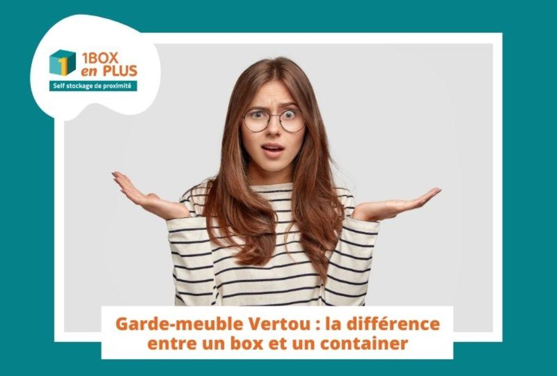 Garde-Meuble Vertou : la différence entre un box et un container